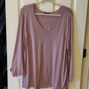 Mauve Pink Long Sleeved Top